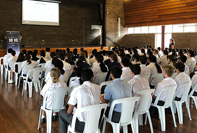 All Saints College Liverpool students at Sydney Catholic Schools' first 10:10 Project workshop
